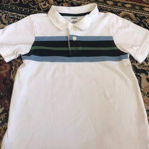 Gymboree white striped polo
